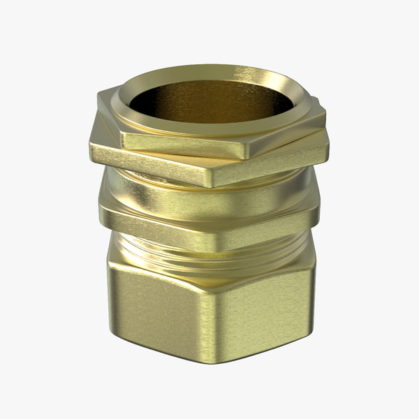 3d model industrial cable gland