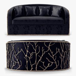 3d enchanted sofa