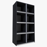 bookcase blender 3d obj