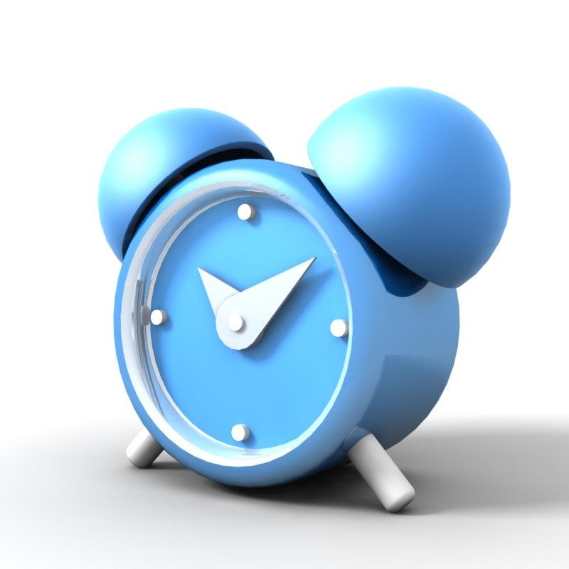 cute alarm clock 3d lwo