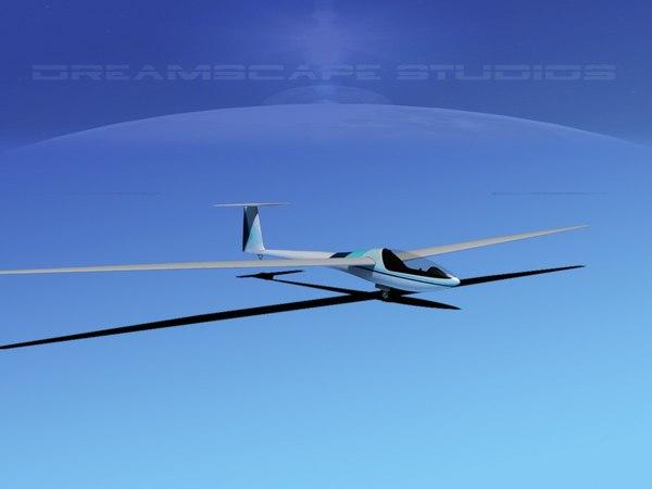 dg-200 sailplane 17 3d dxf