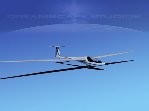 dg-200 sailplane 17 3d model