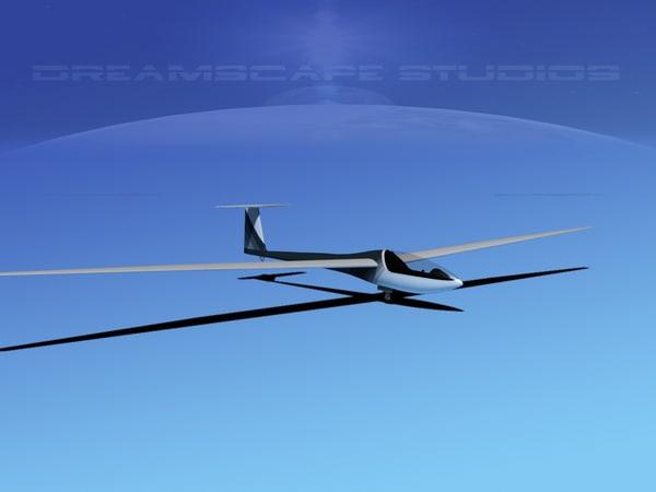 3d model dg-200 sailplane 17
