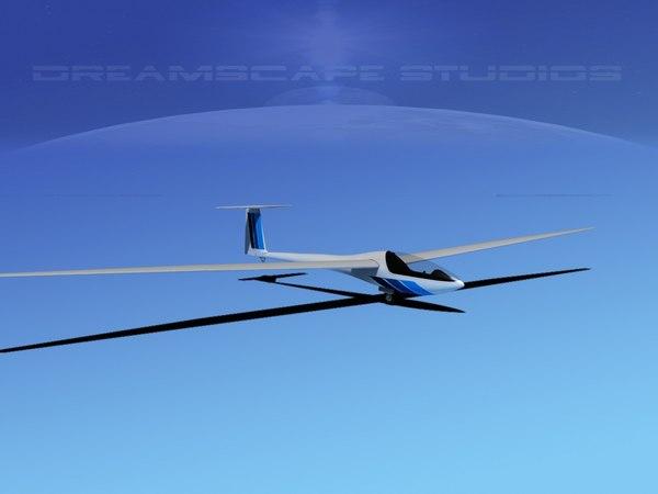 dg-200 sailplane 17 3d max