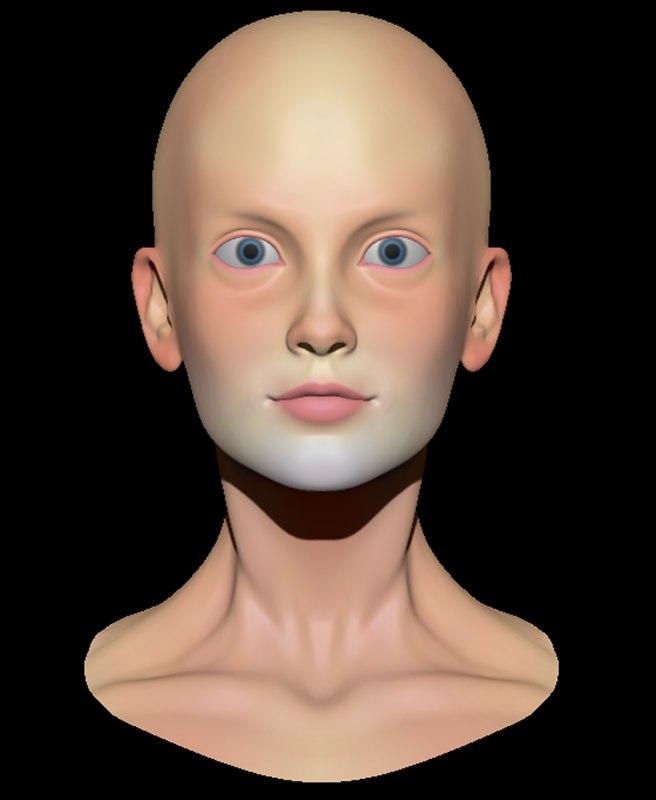 3d model female head