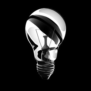 3d classic light bulb model