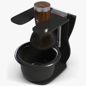 shaving set 3d model