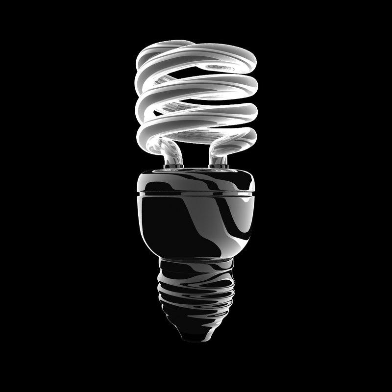 spiral light bulb 3d model