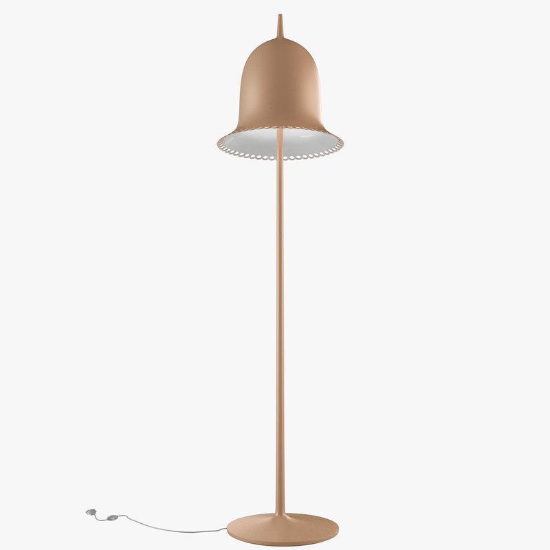 lolita floor lamp 3d model