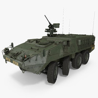 3d model interim armored vehicle stryker