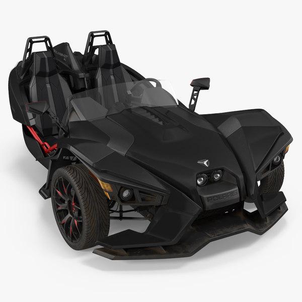polaris slingshot trike 2016 3d model