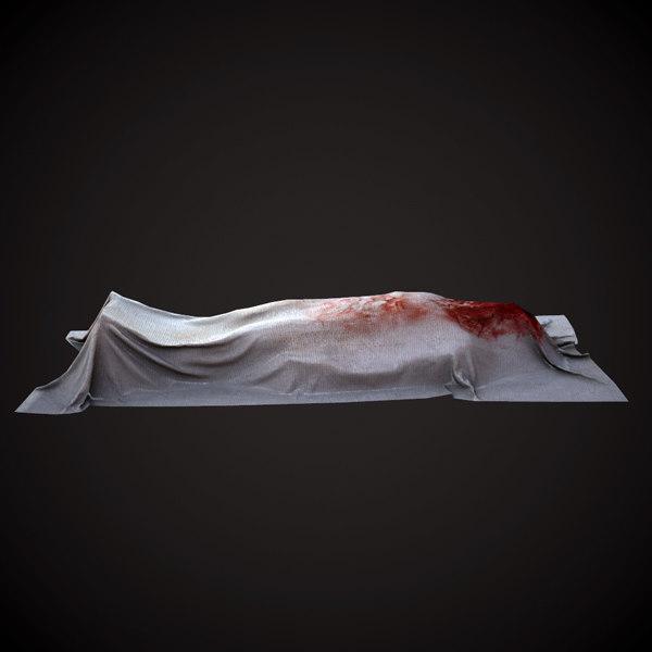 3d model dead man cloth