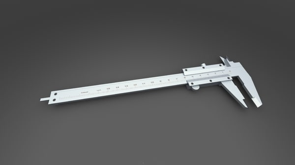 caliper solidworks left handed 3d 3ds
