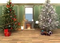 christmas interior scene max