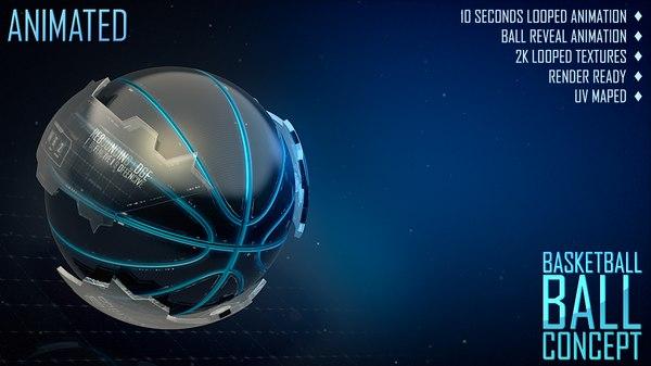 basketball ball concept obj