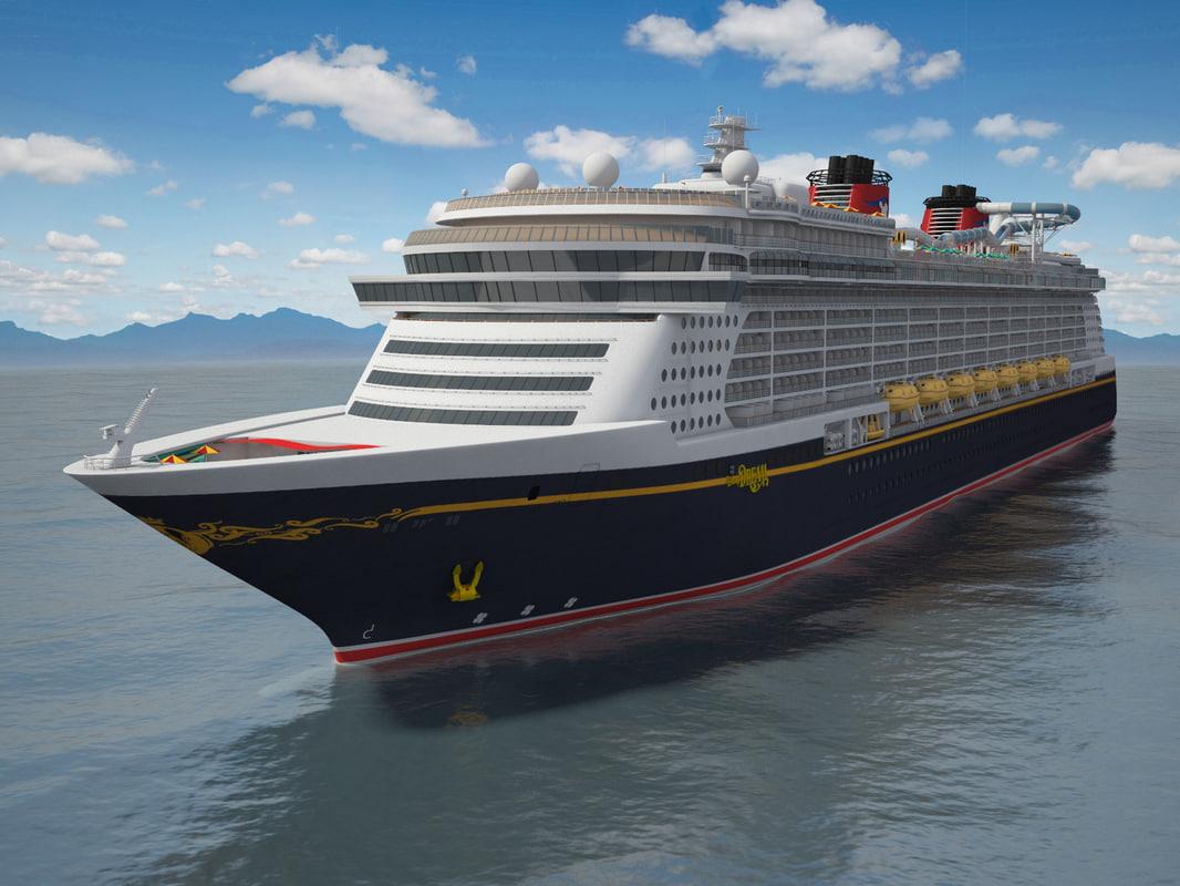 disney dream cruise 3d model
