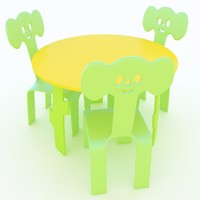 Children's table+chairs