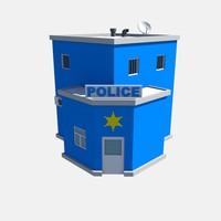 3d model police