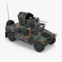 humvee m1151 enhanced armament 3d model