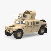 humvee m1151 enhanced armament 3d model