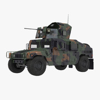 humvee m1151 enhanced armament 3d max
