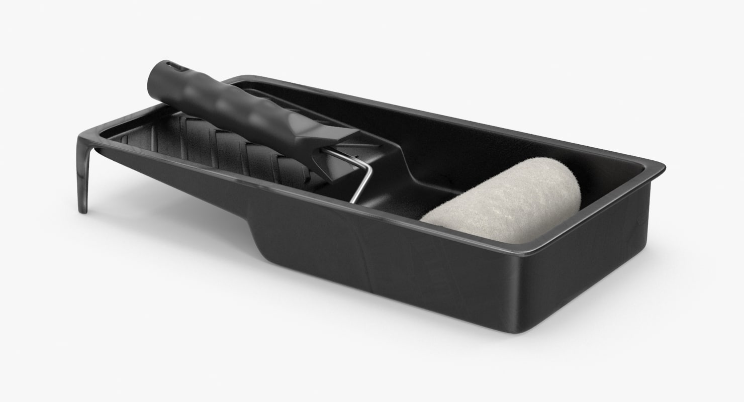 paint rollers trays small 3d model