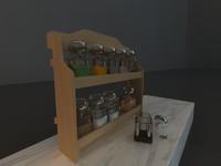 decorative jars 3d model