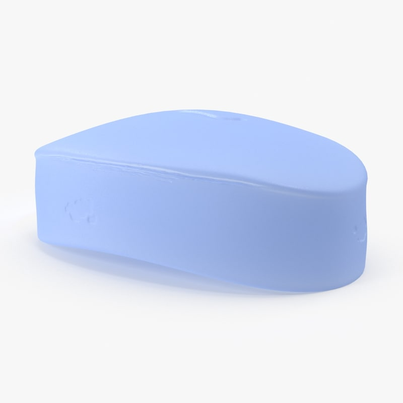 bar soap oval 3d model