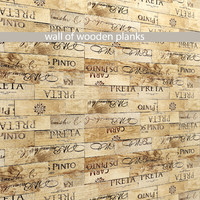 3d model of mosaic wood panel planks