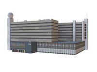 modeled buildings 3d model