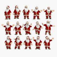 poses santa clause 3d c4d