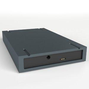 usb external hard disk 3d model