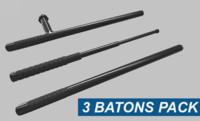 3d 3 batons pack model