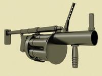 granade launcher 3d obj