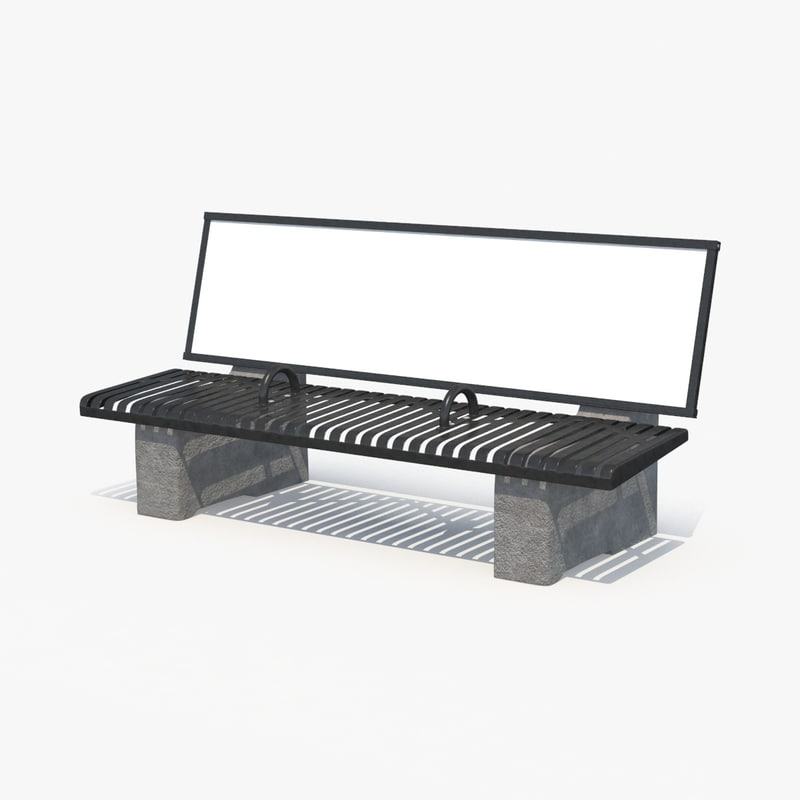 ad bench 3d max