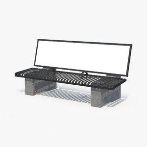 ad bench 3d max