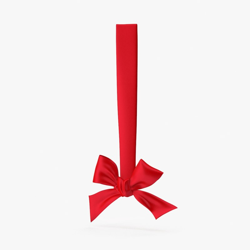 ribbon hanging 3d model