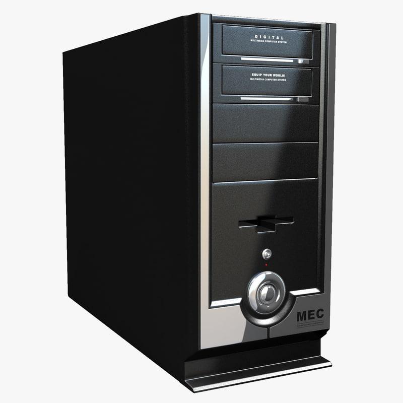free computer case mec 3d model