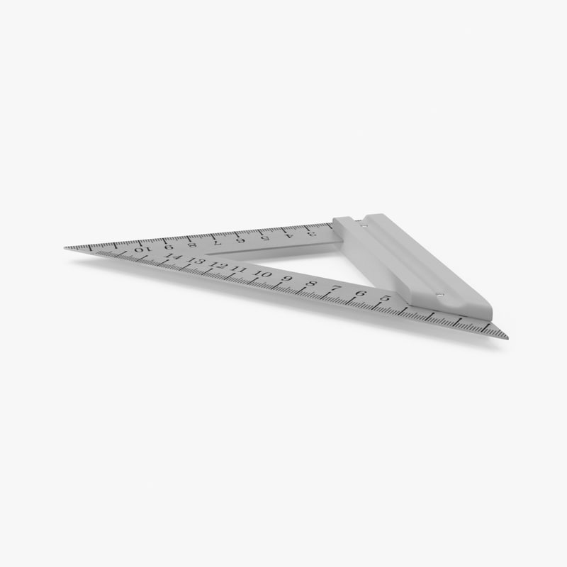 triangle ruler 3d model