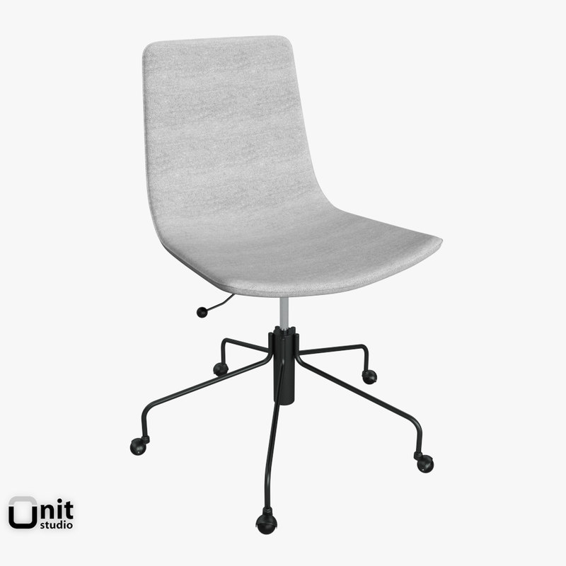 slope office chair west 3d model