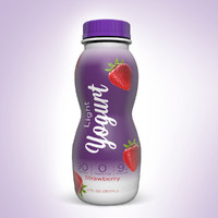 yogurt bottle 3d c4d
