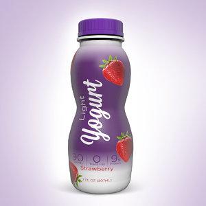 yogurt bottle 3d c4d