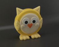 3d model of birdy figure