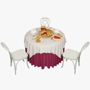3d model pie table