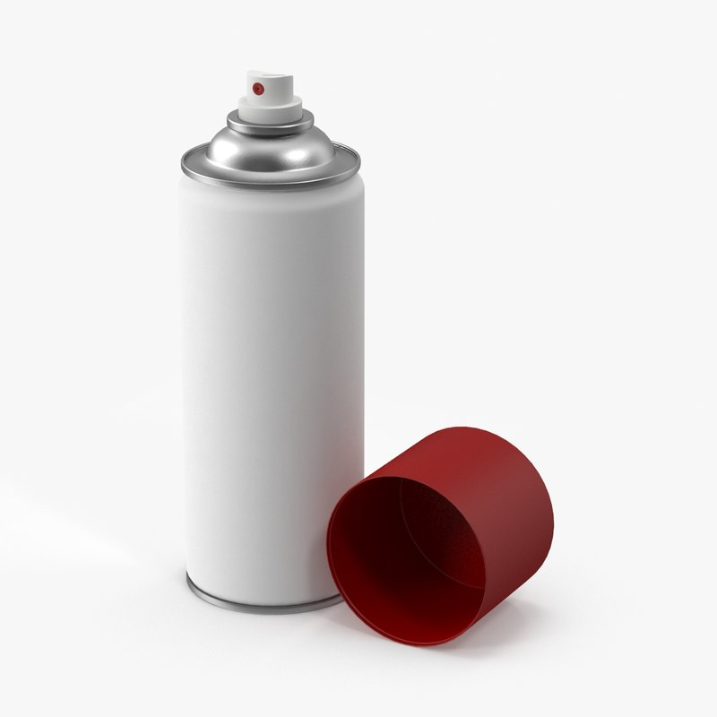 3d model of spray paint