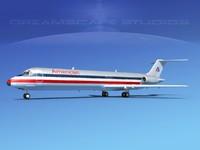 3d turbines dc-9-50 douglas dc-9 aircraft