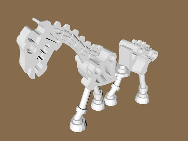 3d lego skeleton horse