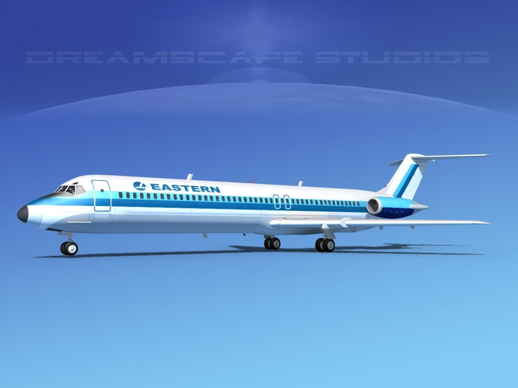 3d model turbines dc-9-50 eastern airlines