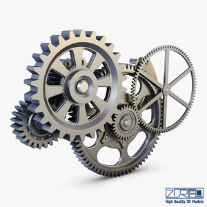 gear mechanism v 6 3d model