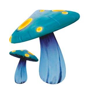3d mushroom hand painted